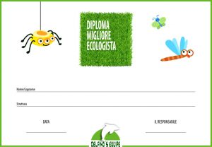 diploma perfetto ecologista